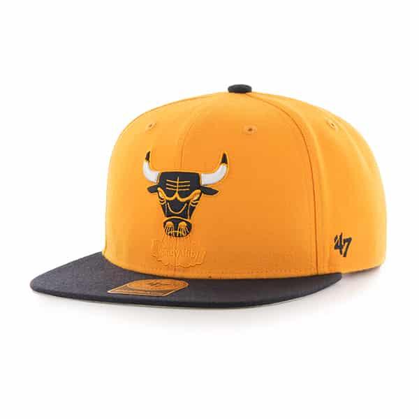 Chicago Bulls Sure Shot Two Tone Captain Gold 47 Brand Adjustable Hat