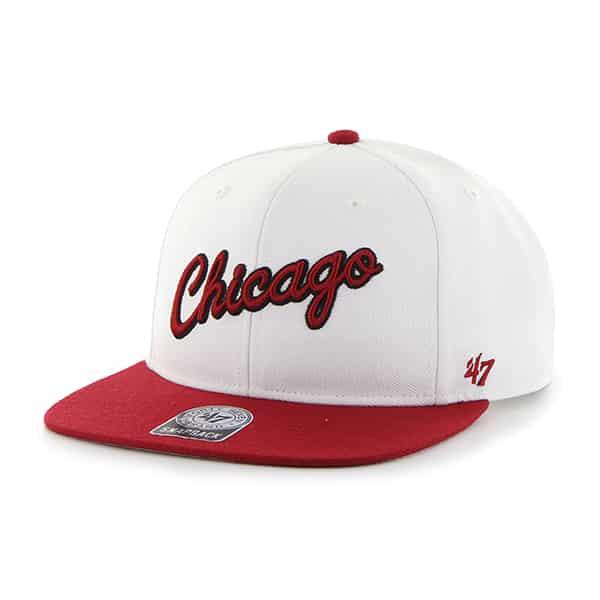 Chicago Bulls Sure Shot Two Tone Captain White 47 Brand Adjustable Hat