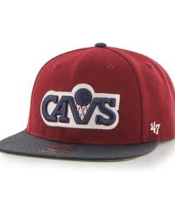 Cleveland Cavaliers Sure Shot Two Tone Captain Cardinal 47 Brand Adjustable Hat