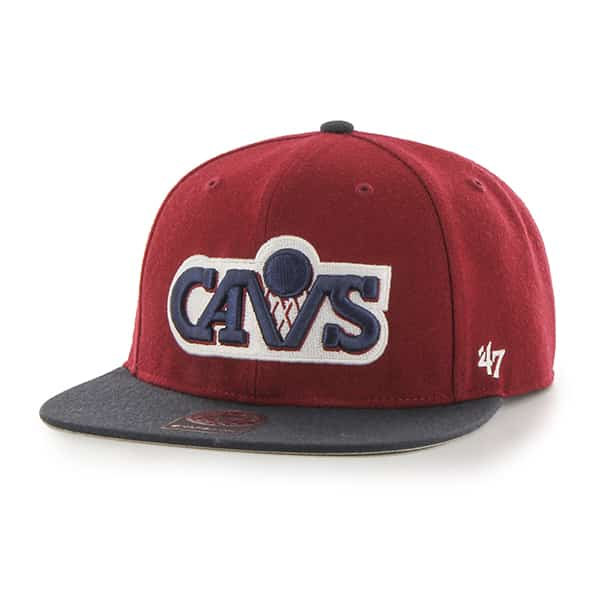 Cleveland Cavaliers Sure Shot Two Tone Captain Cardinal 47 Brand Adjustable Hat