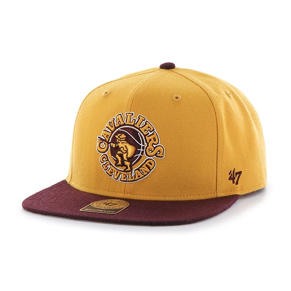 Cleveland Cavaliers Sure Shot Two Tone Captain Gold 47 Brand Adjustable Hat