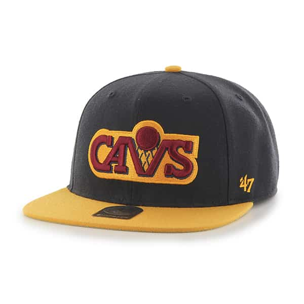 Cleveland Cavaliers Sure Shot Two Tone Captain Navy 47 Brand Adjustable Hat