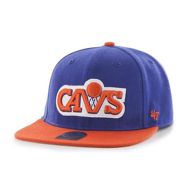 Cleveland Cavaliers Sure Shot Two Tone Captain Royal 47 Brand Adjustable Hat