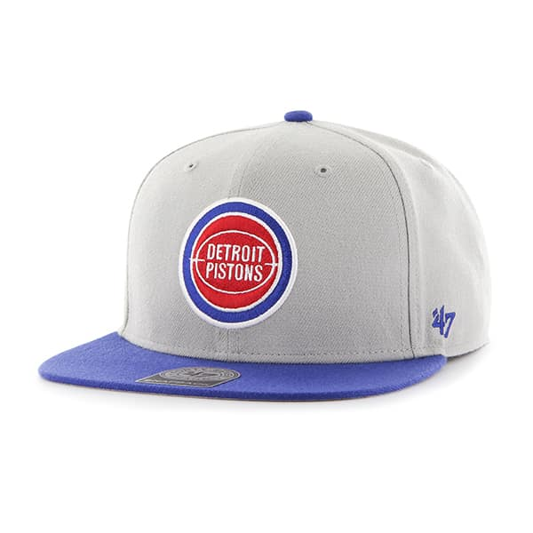 Detroit Pistons Sure Shot Two Tone Captain Gray 47 Brand Adjustable Hat