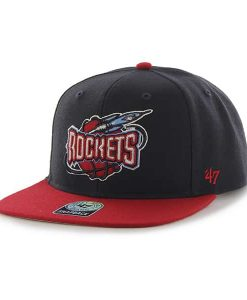 Houston Rockets Sure Shot Two Tone Captain Navy 47 Brand Adjustable Hat
