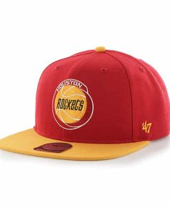 Houston Rockets Sure Shot Two Tone Captain Red 47 Brand Adjustable Hat