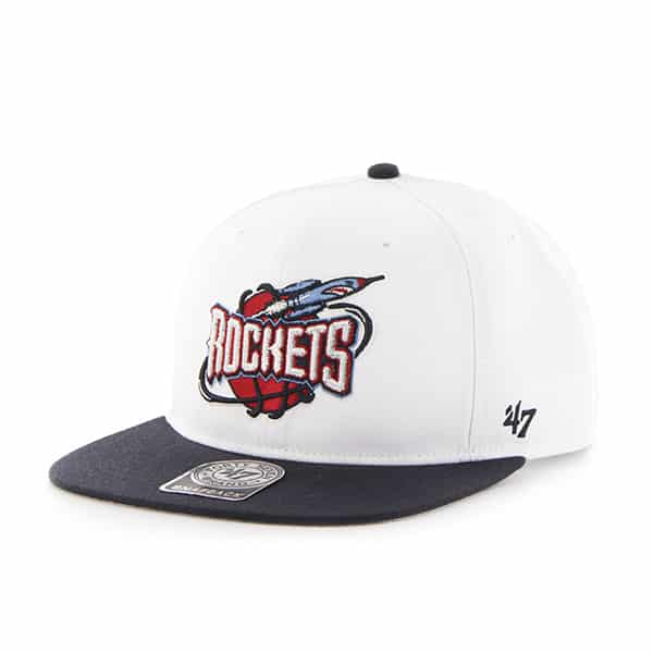 Houston Rockets Sure Shot Two Tone Captain White 47 Brand Adjustable Hat