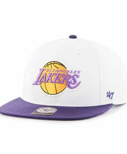 Los Angeles Lakers Sure Shot Two Tone Captain White 47 Brand Adjustable Hat