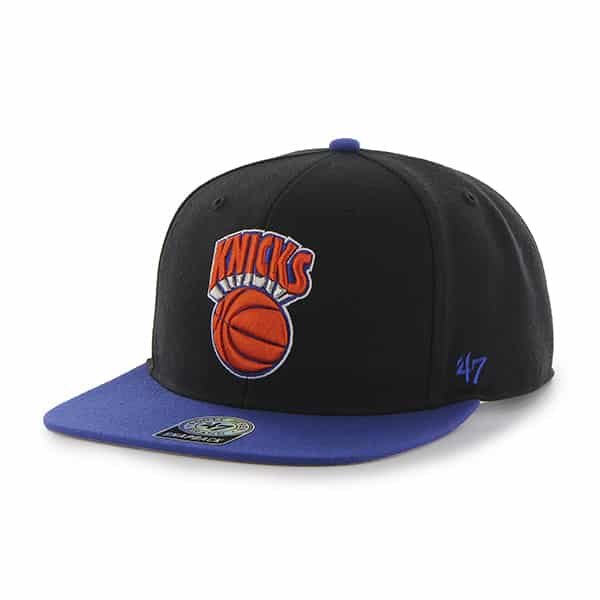 New York Knicks Sure Shot Two Tone Captain Black 47 Brand Adjustable Hat