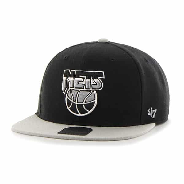 Brooklyn Nets Sure Shot Two Tone Captain Black 47 Brand Adjustable Hat