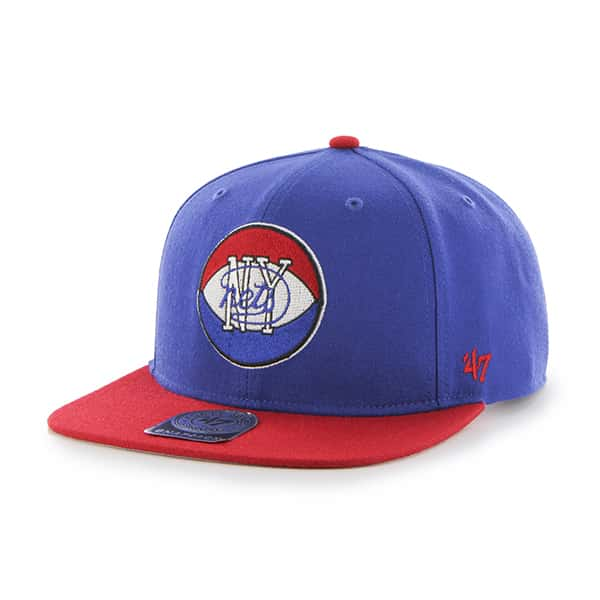 Brooklyn Nets Sure Shot Two Tone Captain Royal 47 Brand Adjustable Hat