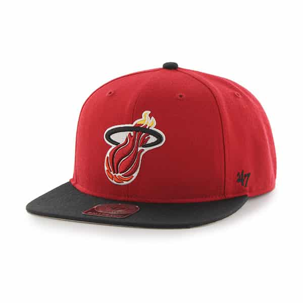 Miami Heat Sure Shot Two Tone Captain Red 47 Brand Adjustable Hat