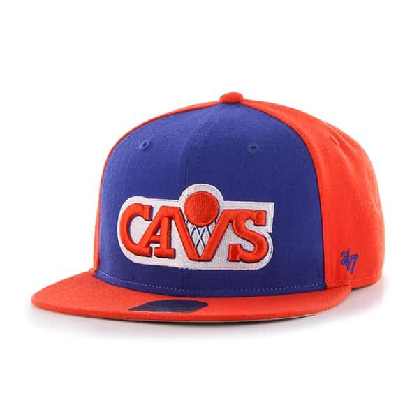 Cleveland Cavaliers Sure Shot Accent Captain Orange 47 Brand Adjustable Hat