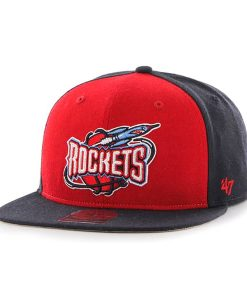 Houston Rockets Sure Shot Accent Captain Navy 47 Brand Adjustable Hat