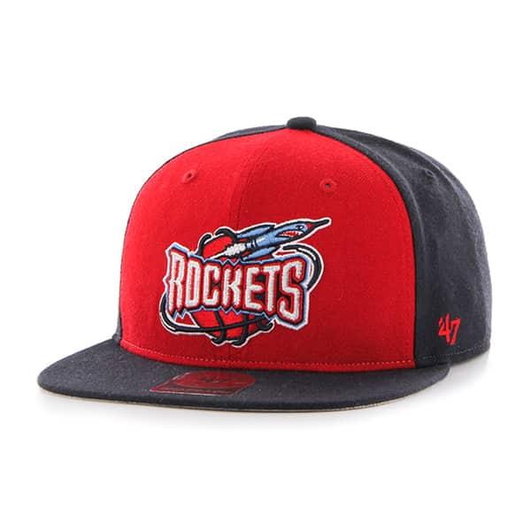 Houston Rockets Sure Shot Accent Captain Navy 47 Brand Adjustable Hat