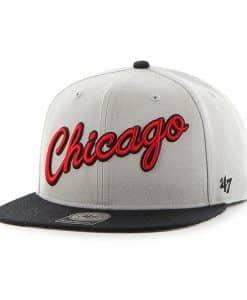 Chicago Bulls Script Side Two Tone Captain Gray 47 Brand Adjustable Hat