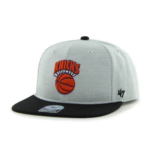 New York Knicks Satchel Gray 47 Brand Adjustable Hat