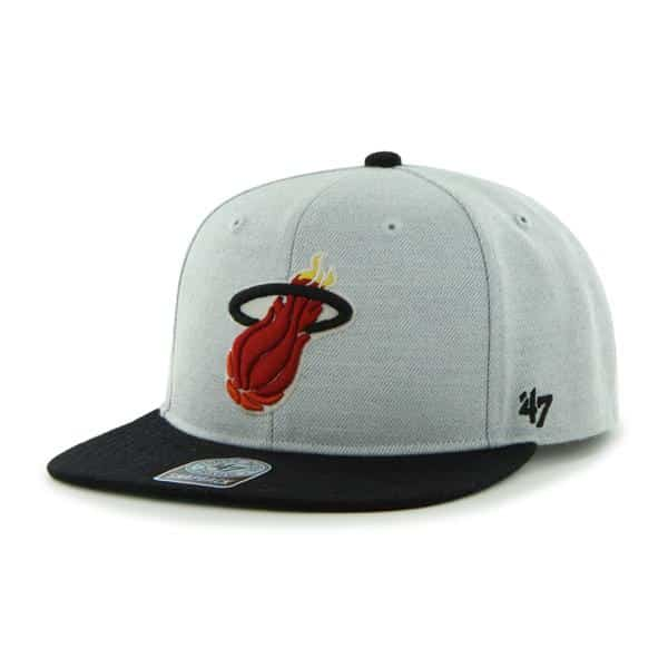 Miami Heat Satchel Gray 47 Brand Adjustable Hat