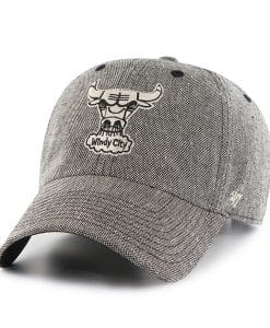 Chicago Bulls Strike Through Clean Up Black 47 Brand Adjustable Hat