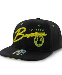 Boston Celtics Sweet Cheese Logo Black 47 Brand Adjustable Hat