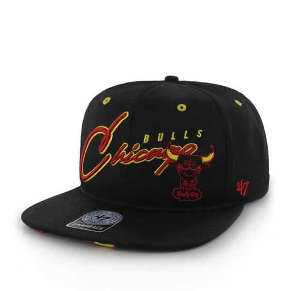 Chicago Bulls Sweet Cheese Logo Black 47 Brand Adjustable Hat