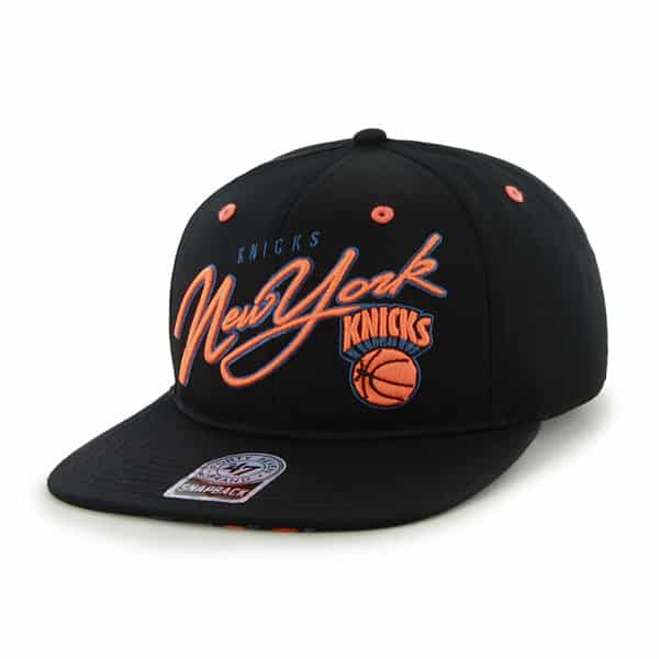 New York Knicks Sweet Cheese Logo Black 47 Brand Adjustable Hat