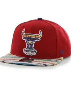 Chicago Bulls Warchild Red 47 Brand Adjustable Hat
