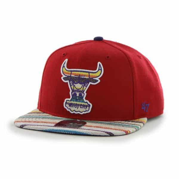 Chicago Bulls Warchild Red 47 Brand Adjustable Hat