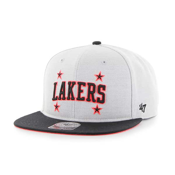 Los Angeles Lakers Wrist Shot Two Tone Neon Captain Gray 47 Brand Adjustable Hat