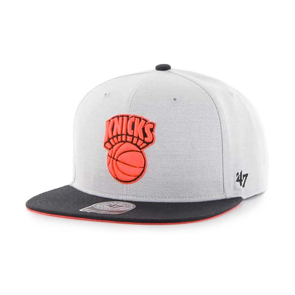 New York Knicks Wrist Shot Two Tone Neon Captain Gray 47 Brand Adjustable Hat