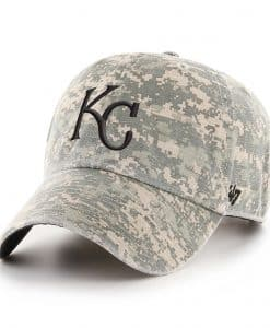 Kansas City Royals 47 Brand Digital Camo Clean Up Adjustable Hat