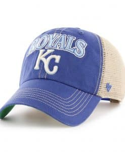 Kansas City Royals 47 Brand Tuscaloosa Vintage Blue Clean Up Adjustable Hat