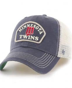 Minnesota Twins 47 Brand Vintage Navy Cooperstown Stretch Fit Hat