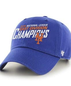 New York Mets Mlb East Division Champions Royal 47 Brand Adjustable Hat