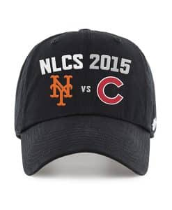 New York Mets Mlb League Series Dueling Black 47 Brand Adjustable Hat