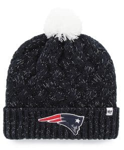 New England Patriots Women's 47 Brand Navy Fiona Cuff Knit Hat