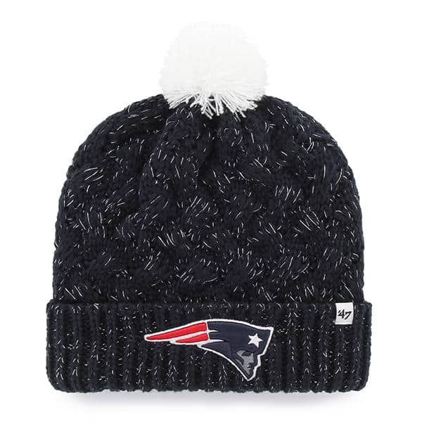 New England Patriots Fiona Cuff Knit Navy 47 Brand Womens Hat