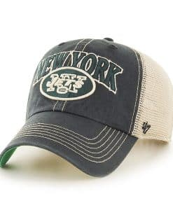 New York Jets Tuscaloosa Clean Up Vintage Black 47 Brand Adjustable Hat