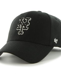 New York Mets 47 Brand Black MVP Adjustable Hat