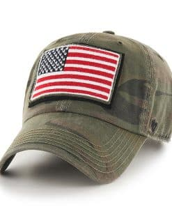 Operation Hat Trick Movement Sandalwood 47 Brand Adjustable USA Flag Hat