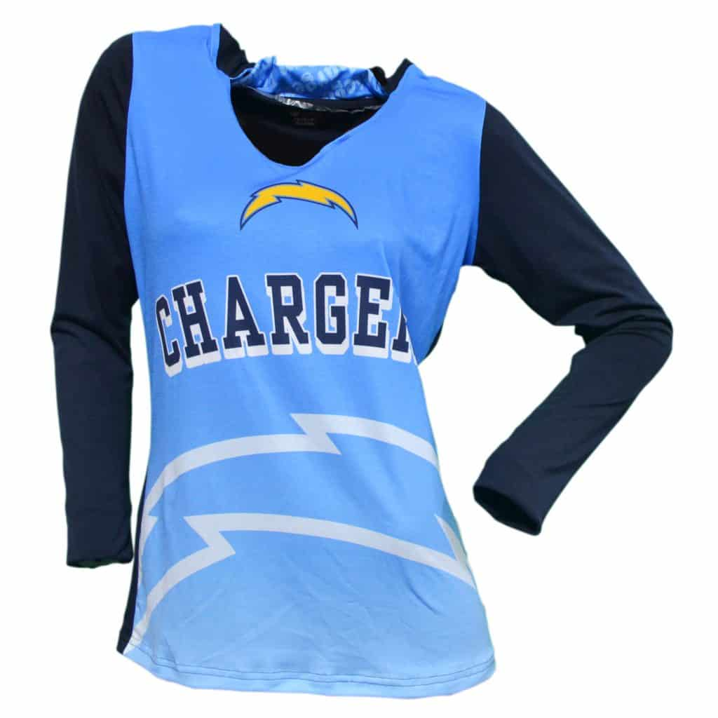San Diego Chargers Ladies Cameo Hoodie Detroit Game Gear
