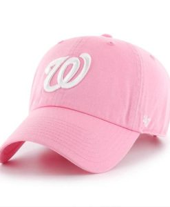 Washington Nationals Women's 47 Brand Pink Clean Up Adjustable Hat