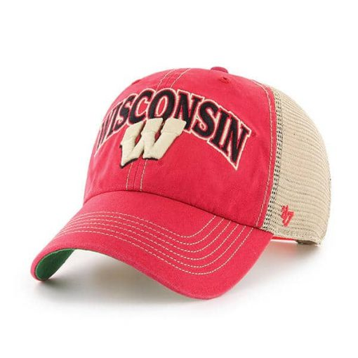 Wisconsin Badgers Tuscaloosa Clean Up Vintage Red 47 Brand Adjustable Hat