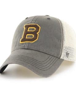 Boston Bruins 47 Brand Charcoal 2019 Winter Classic Caprock Stretch Fit Hat