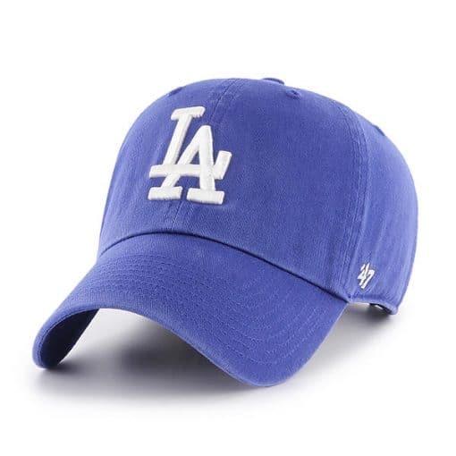 Los Angeles Dodgers 47 Brand Women's Home Clean Up Adjustable Hat