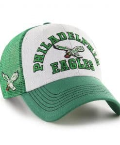 Philadelphia Eagles 47 Brand Classic Green Gray MVP Mesh Adjustable Hat
