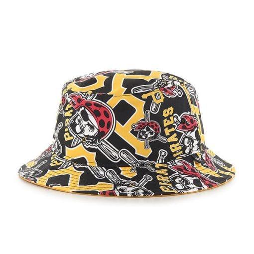Pittsburgh Pirates 47 Brand Yellow Black Bravado Bucket Hat