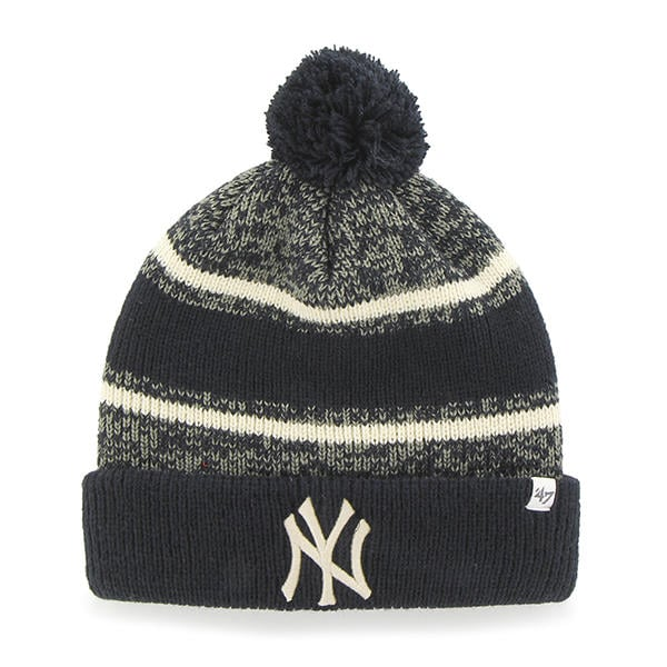 more photos 1c4d7 84b31 New York Yankees 47 Brand Navy Fairfax Cuff Knit Hat - Detroit Game Gear