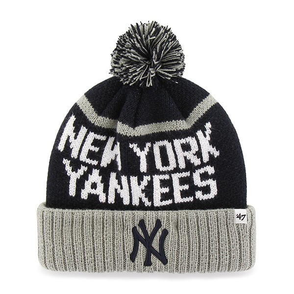 bf1cfca0347 New York Yankees 47 Brand Navy Linesman Cuff Knit Hat - Detroit Game Gear