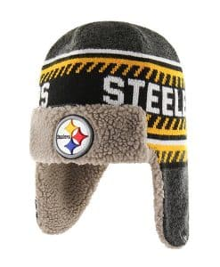 Pittsburgh Steelers 47 Brand Black Ice Knit Winter Hat